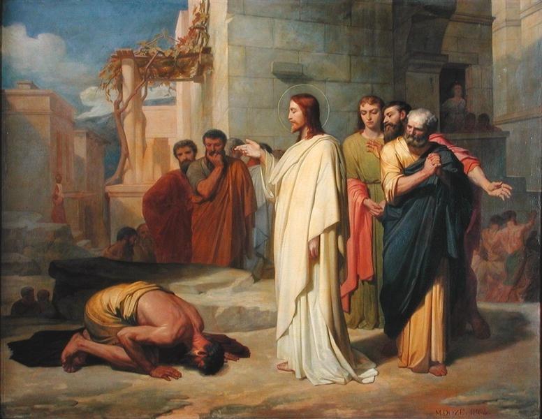 Isus liječi gubavca