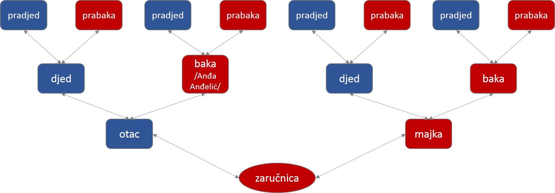 Krvni srodnici u ravnoj liniji su