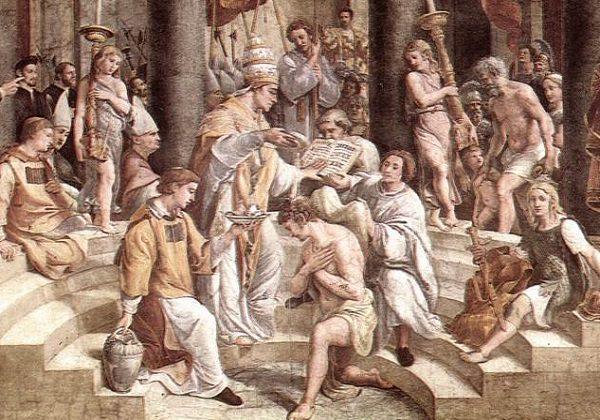 Rafael Sanzio, Krštenje (detalj)