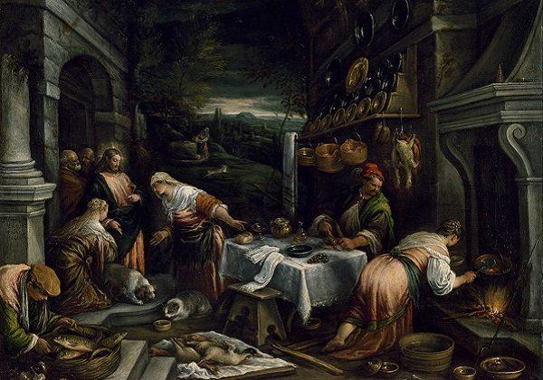 Jacopo Bassano, Isus u kući Marte, Marije i Lazara
