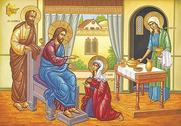 Marta, Marija, lazar i Isus