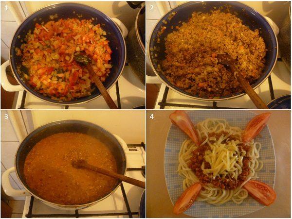 Špageti s mljevenim mesom - postupak