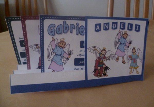 Anđeli - postolje i kartice