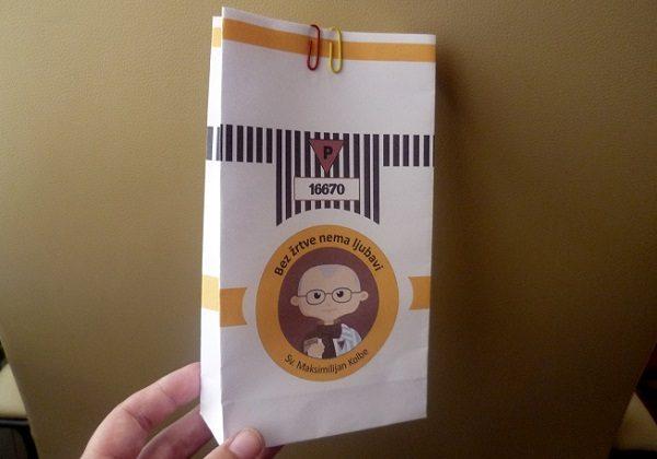 Sv. Maksimilijan Kolbe - ukrasna vrećica