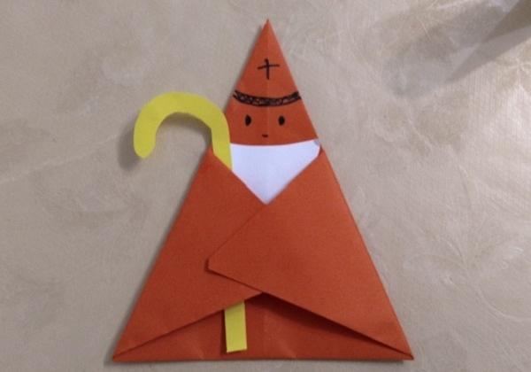 Jednostavni sveti Nikola od papira