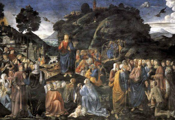 Cosimo Roselli i Piero di Cosimo, Govor na gori (freska u Sikstinskoj kapeli)