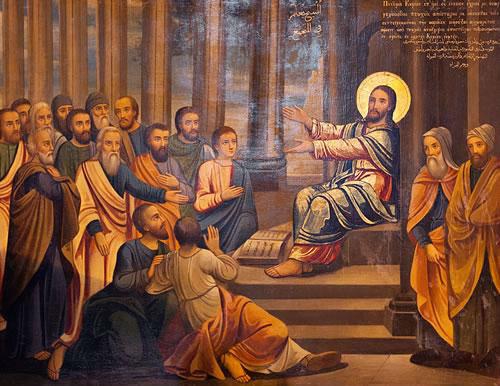 Isus u sinagogi