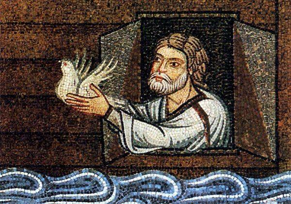 Noa pušta golubicu