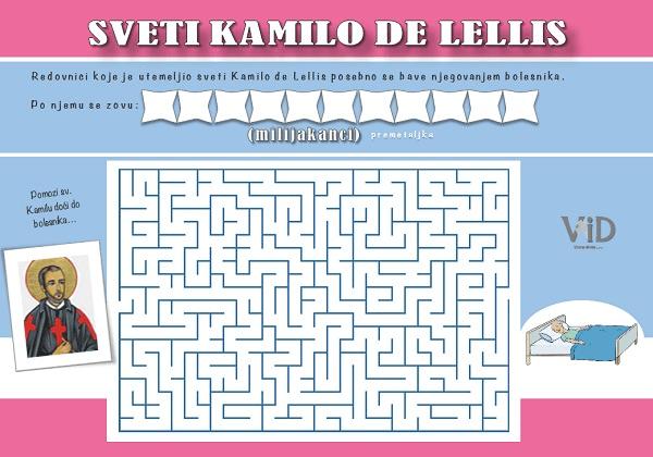 Sv. Kamilo de Lellis – radni list