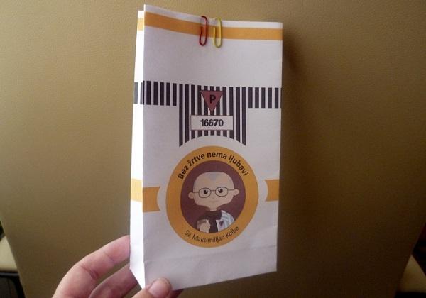 Sv. Maksimilijan Kolbe – ukrasna vrećica