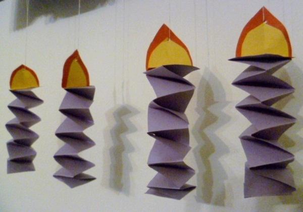Adventske svijeće od papira u boji