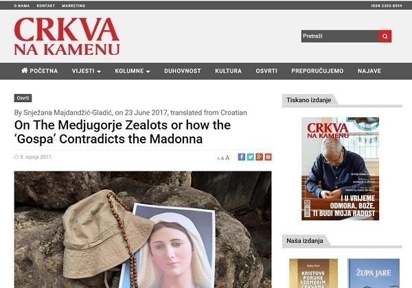 A Response to Fr. Karlo Lovrić on Medjugorje