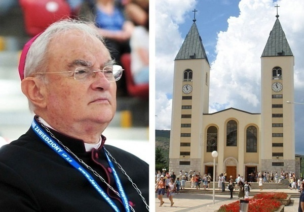 By what authority is Archbishop Hoser proclaiming Medjugorje a shrine?