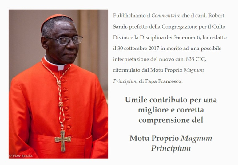 Pismo pape Franje kardinalu Sarahu