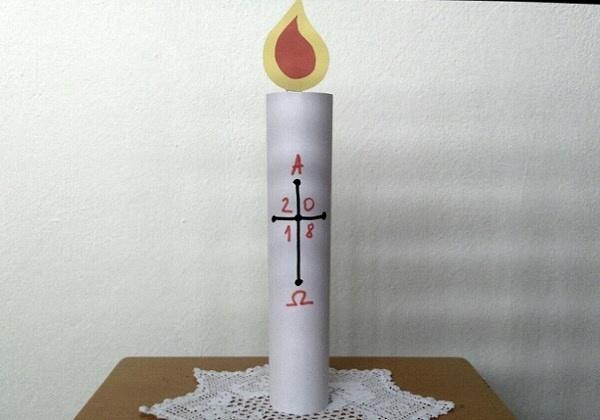 Uskrsna svijeća od papira