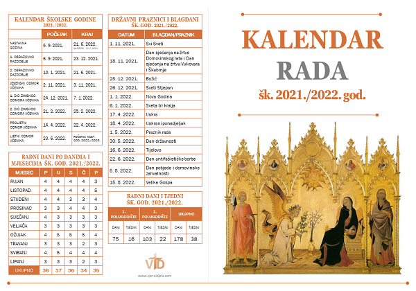 Kalendar rada šk. 2021./2022. god.
