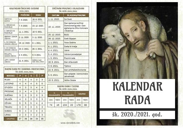 Kalendar rada šk. 2020./2021. god.